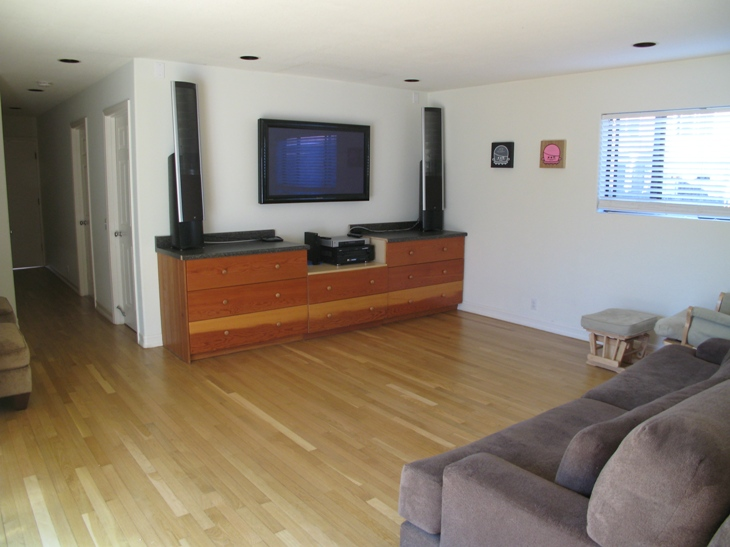 Family Room at 379 Rochester, Costa Mesa