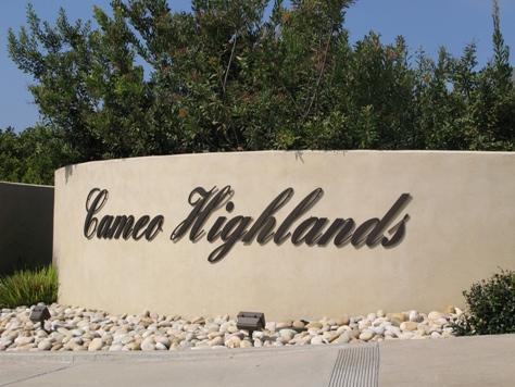 Cameo Highlands Entrance in Corona del Mar