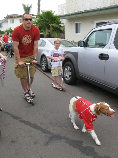 Newport Shores fourth of July parade