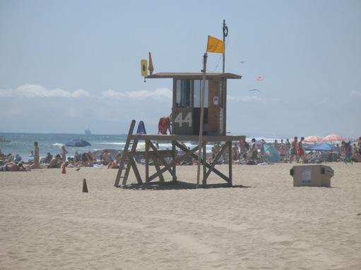 Lifeguard tower in Newport Beach