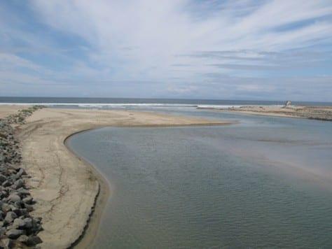 River jetty in Newport Beach