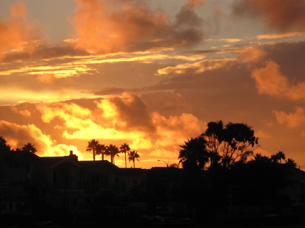 Newport Shores sunset