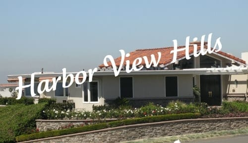 Harbor view hills in Corona del Mar