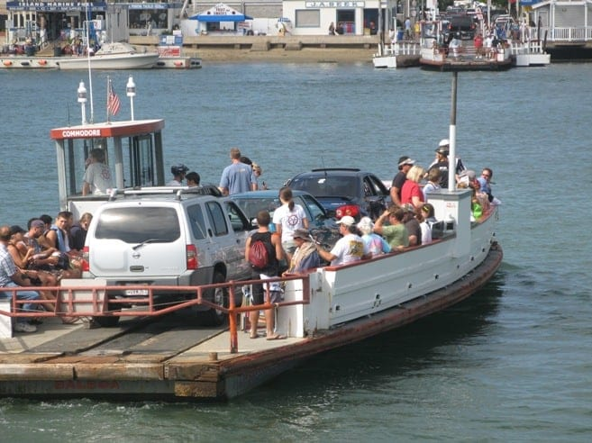 Balboa Island ferry in Newport Beach