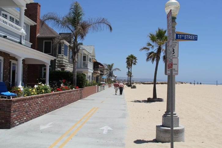 Balboa Boardwalk In Newport Beach