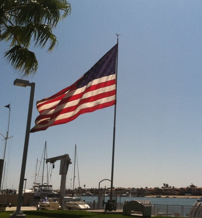 American Flag in Newport Beach