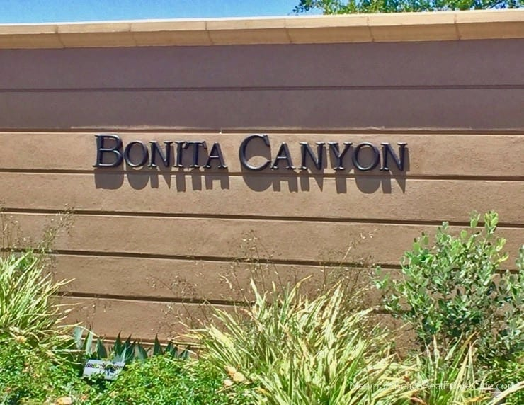 Bonita Canyon Recent Home Sales Newport Beach CA