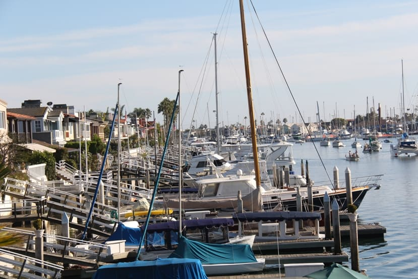 Newport Beach homes for sale with boat slips