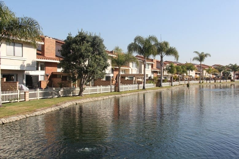 Seaside village in Huntington Beach