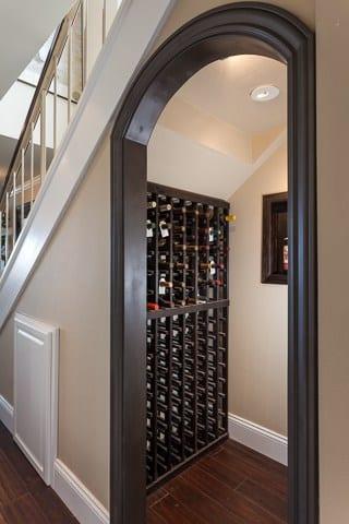 wine cellar in newport shores home
