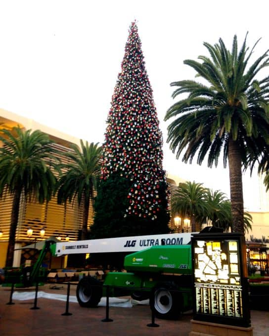 Christmas tree lighting at Fashion Island