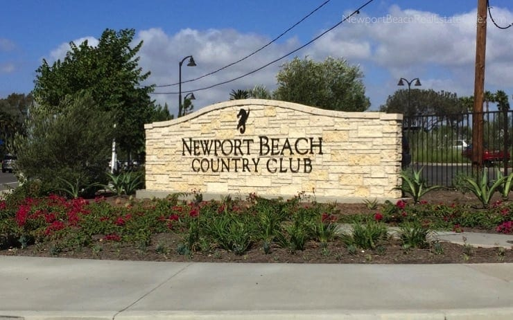 Newport Beach country club golf course