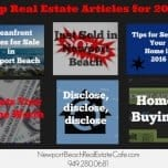 Top Newport Beach Real Estate Articles for 2016