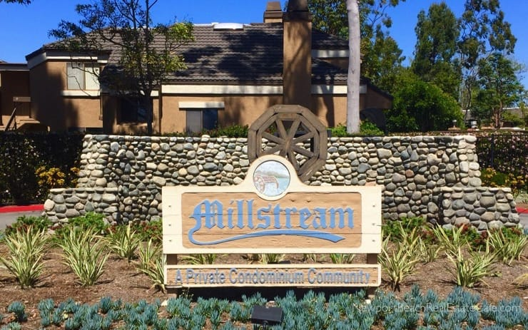 Mill Stream condo complex for sale Huntington Beach