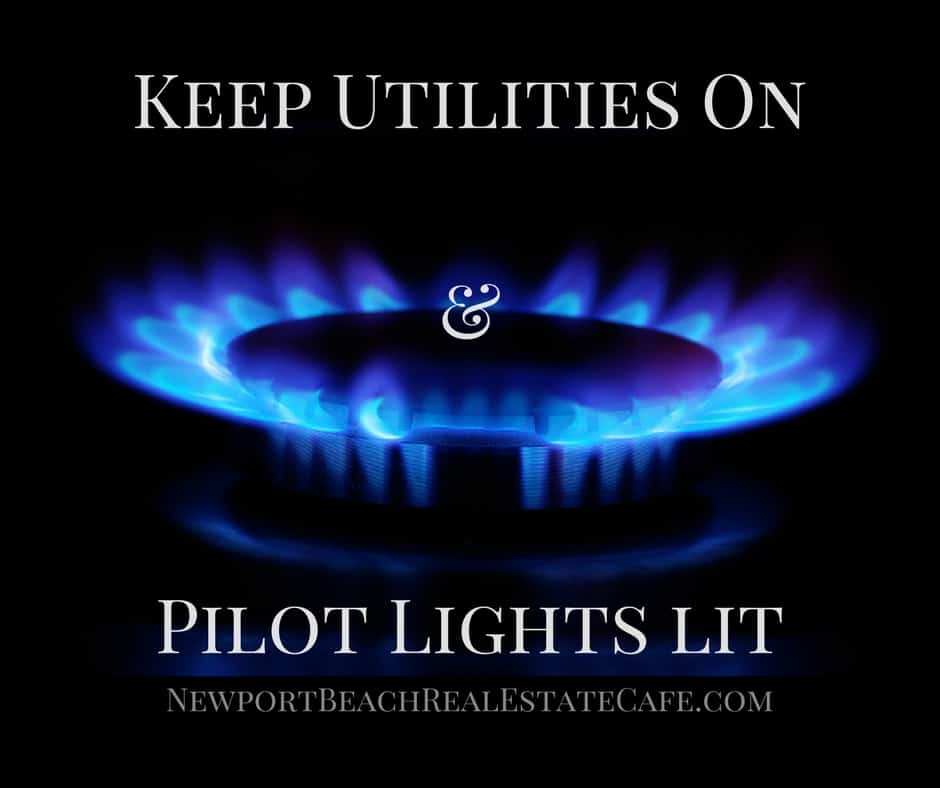 keep utilities on when selling a home