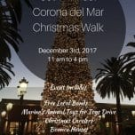 39th Annual Corona del Mar Christmas Walk | December 3, 2017