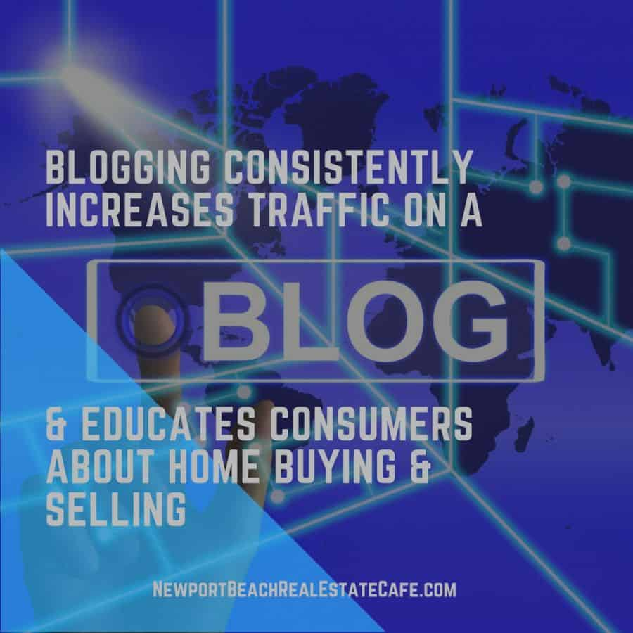 Consistent blogging drives traffic