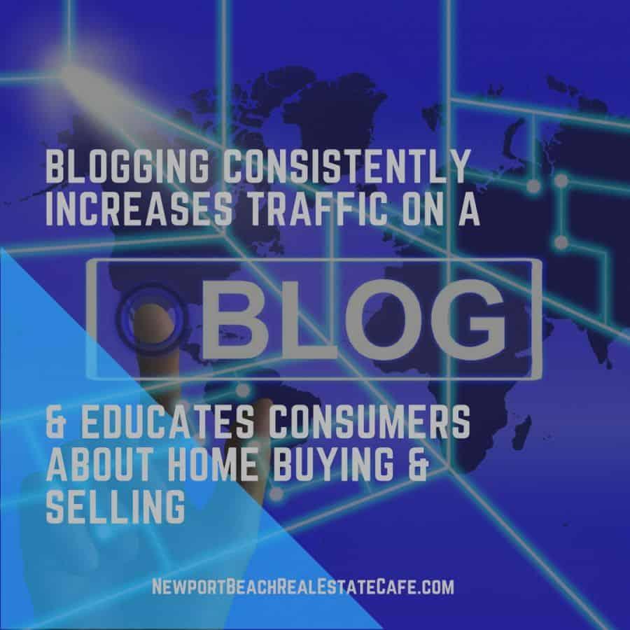 Consistent blogging drives traffic