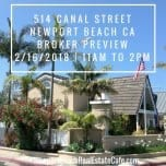Just Listed | 514 Canal Street, Newport Beach CA 92663 | Broker Preview