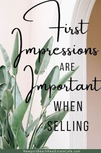 First impressions important when selling