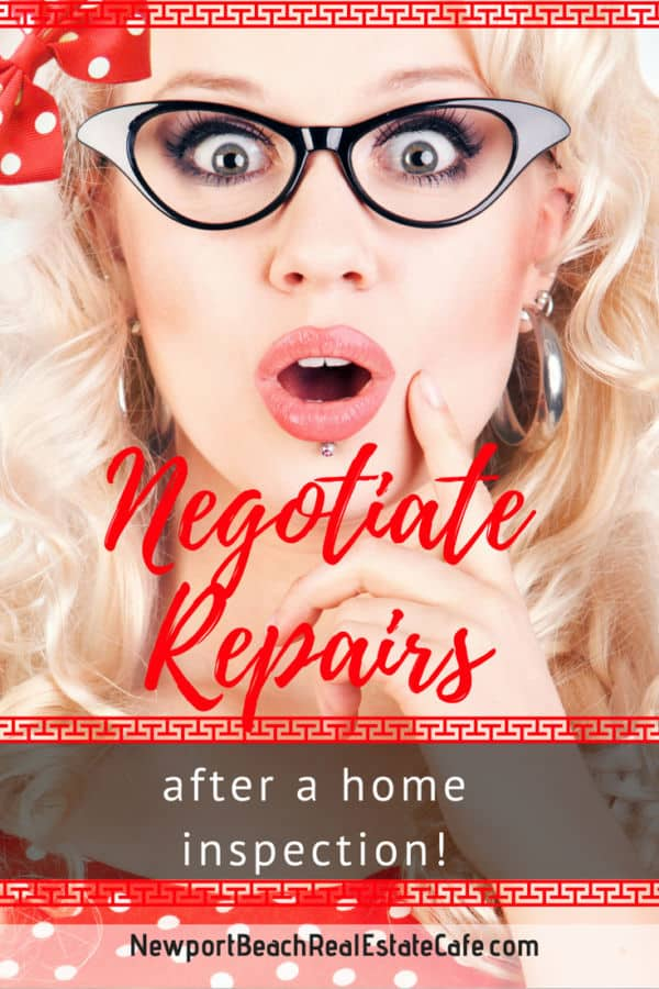 Negotiate Repairs after a home inspection