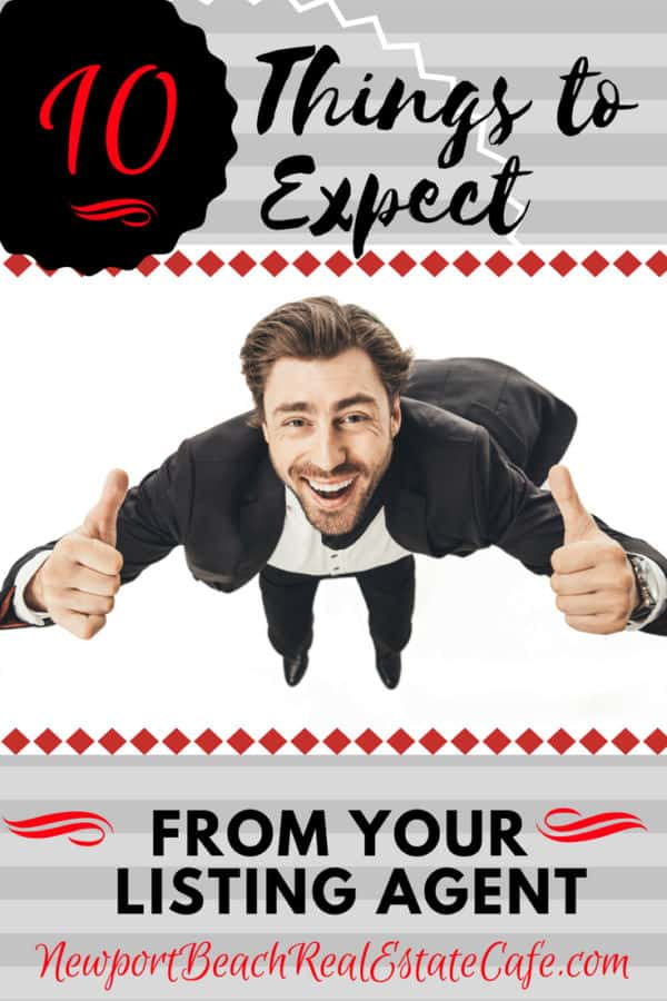 10 Things to Expect from your listing agent