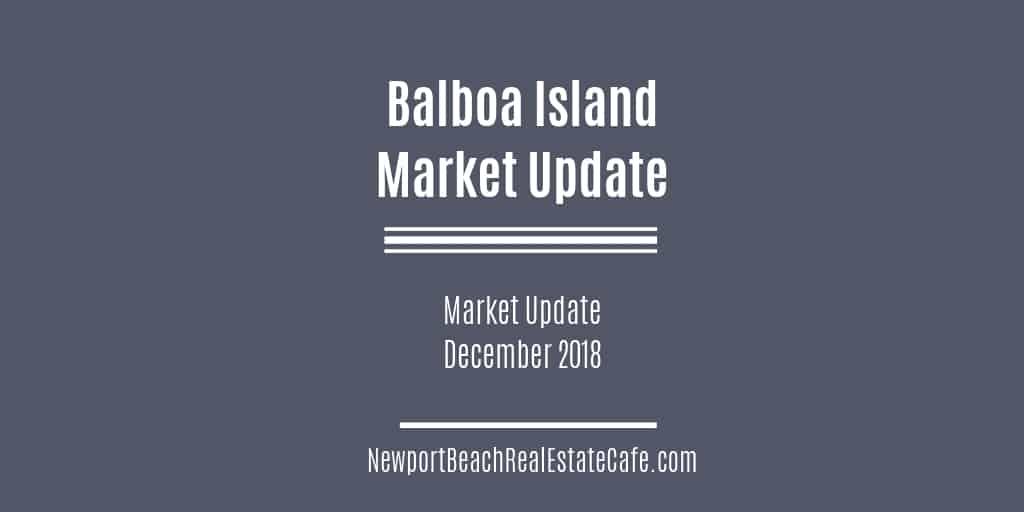 Balboa Island Market Update