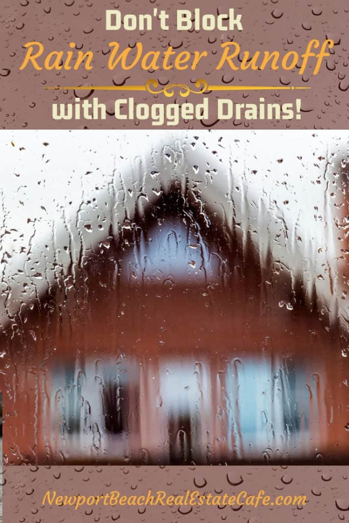 Don't Block Rainwater Runoff with Clogged Drains