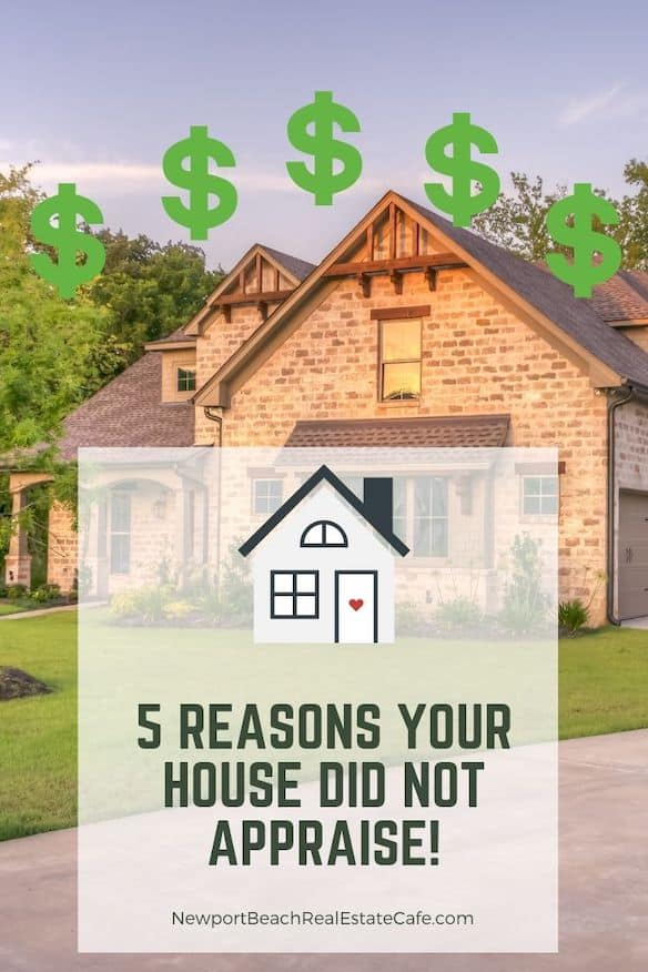 Five Reasons Your Home did Not Appraise