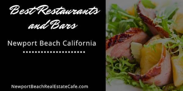 BEST restaurants and bars in Newport Beach