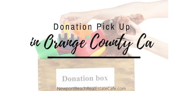 Free Donation Pick Up In Orange County Ca