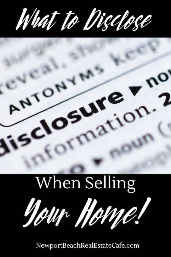 What to Disclose When Selling