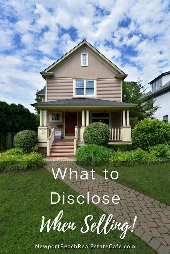 what to disclose when selling a home