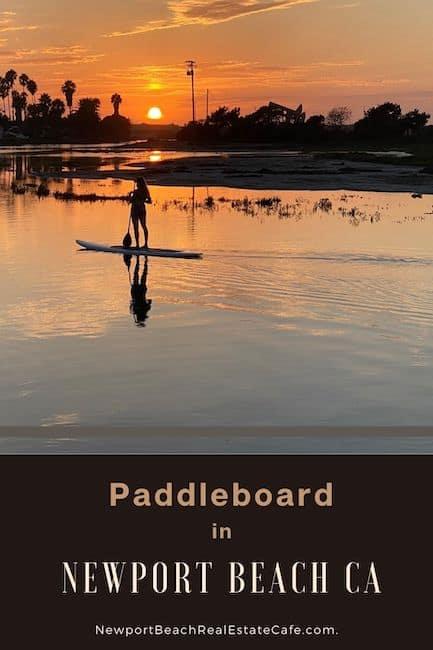 Paddleboard in Newport Beach CA